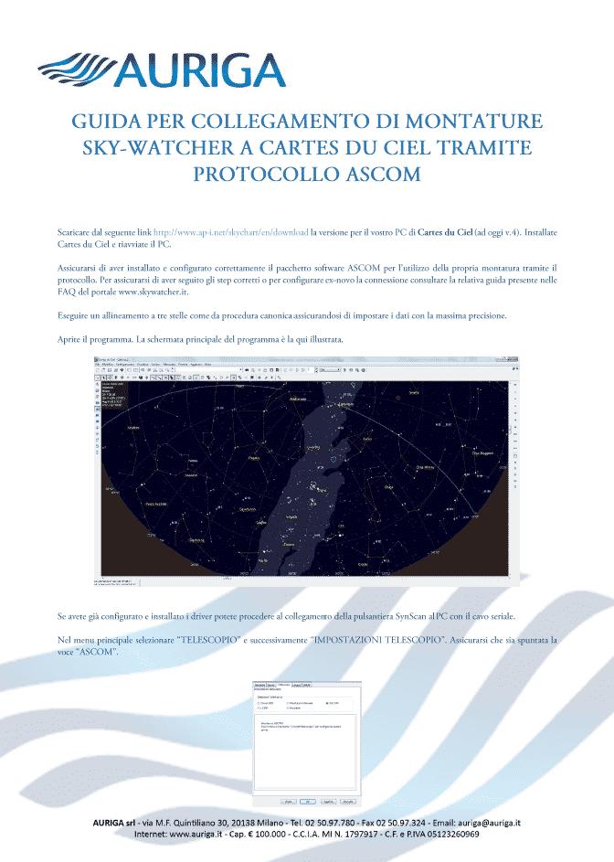 You are currently viewing Guide per il Controllo a PC di Montature SynScan